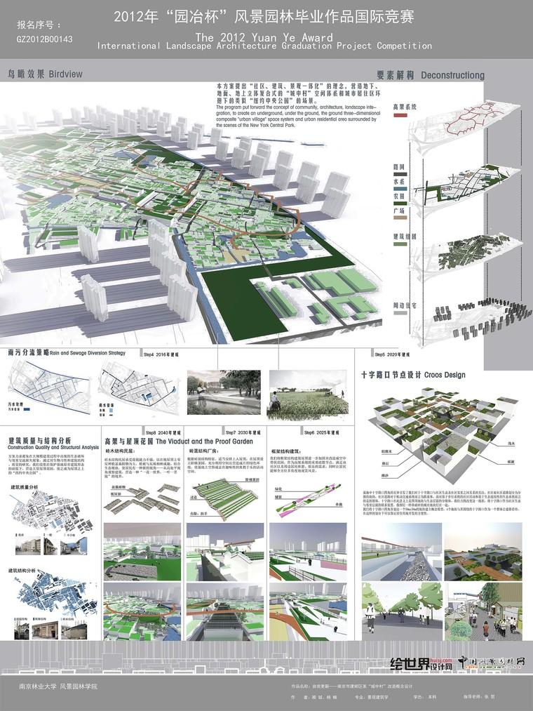 园冶杯竞赛图纸合集5g(2011-18年)景观排版参考图片